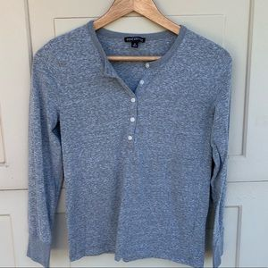 Jcrew factory marled gray Henley size small.